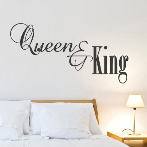 Wandtattoo Spruch - Queen & King