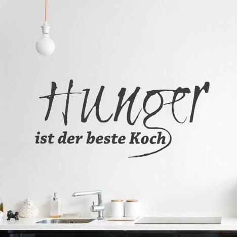 Wandtattoo Spruch - Hunger ist der beste Koch