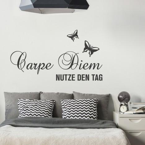 Wandtattoo Spruch - Carpe Diem Nutze den Tag