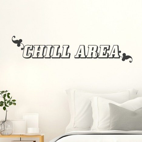Wandtattoo Spruch - Chill Area
