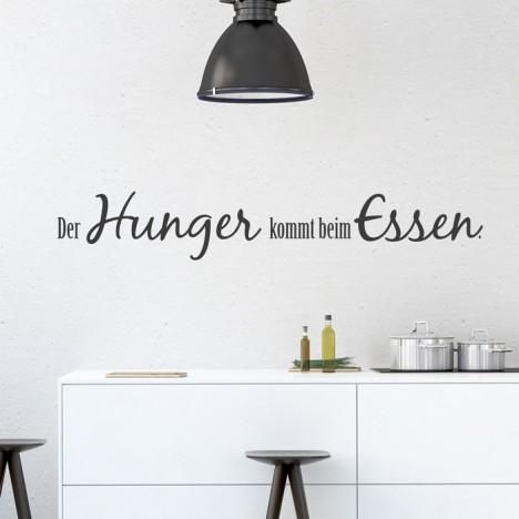 Wandtattoo Spruch - Der Hunger kommt beim Essen