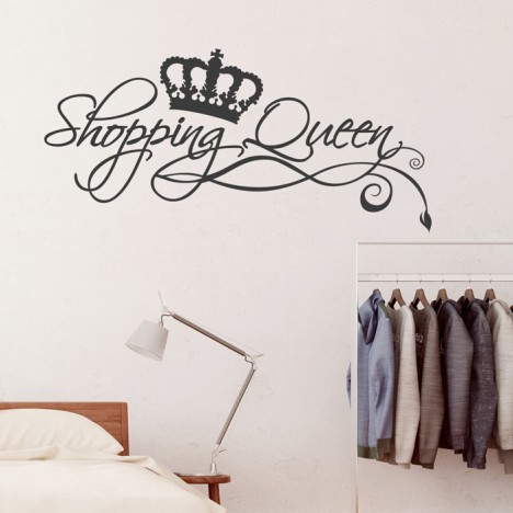 Wandtattoo Spruch - Shopping Queen