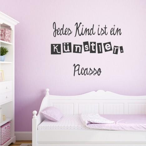 Wandtattoo Zitat - Jedes Kind ist ein Künstler