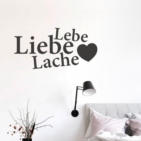Wandtattoo Spruch - Lebe Liebe Lache