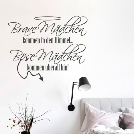 Wandtattoo Spruch - Brave Mädchen kommen ...