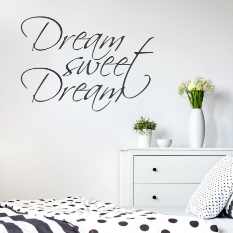 Wandtattoo Spruch - Dream sweet Dream