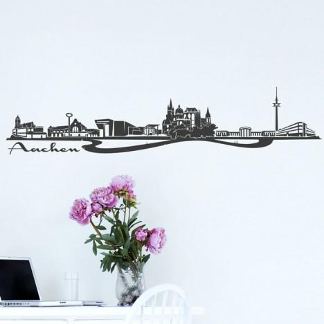 Wandtattoo Skyline Aachen
