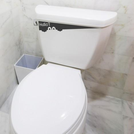 Toilettenaufkleber Hallo? - Little Monster