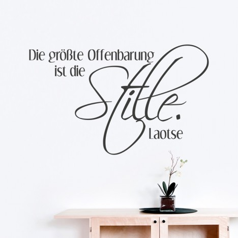 Wandtattoo Zitat - Die größte Offenbarung ist die Stille