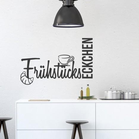 Wandtattoo Spruch - Frühstückseckchen