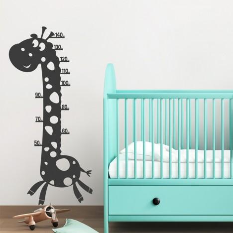 Wandtattoo Maßband - Giraffe