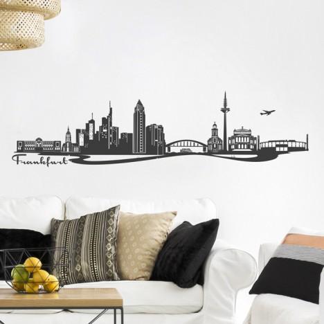 Wandtattoo Skyline Frankfurt