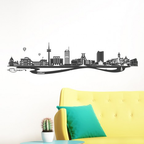 Wandtattoo Skyline Essen