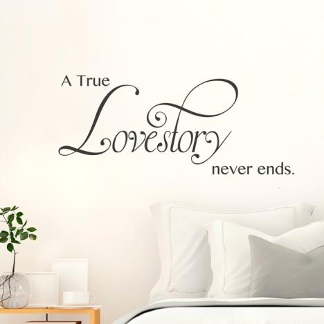 Wandtattoo A true Lovestory never ends
