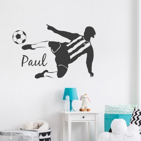 Wandtattoo Fußballer Wunschname