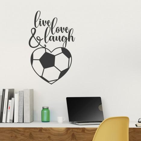 Wandtattoo Fußball - live laugh love