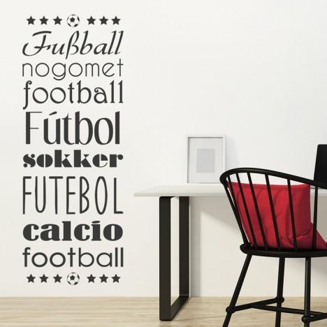 Wandtattoo Fußball - Fußball in verschiedenen Sprachen