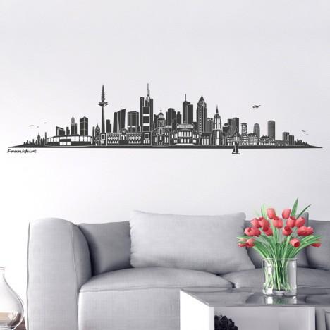 Wandtattoo Skyline Frankfurt ohne Fluss