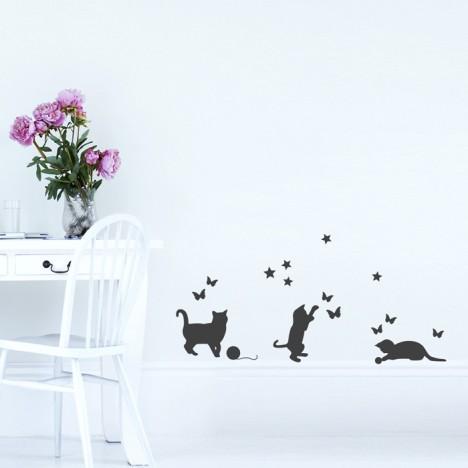 Wandtattoo A4-Set Kätzchen