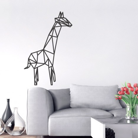 Wandtattoo Origami Giraffe