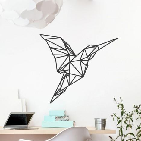 Wandtattoo Origami Kolibri