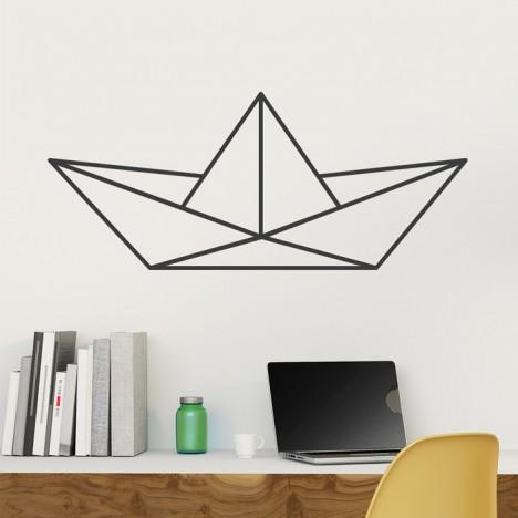 Wandtattoo Origami Papierboot