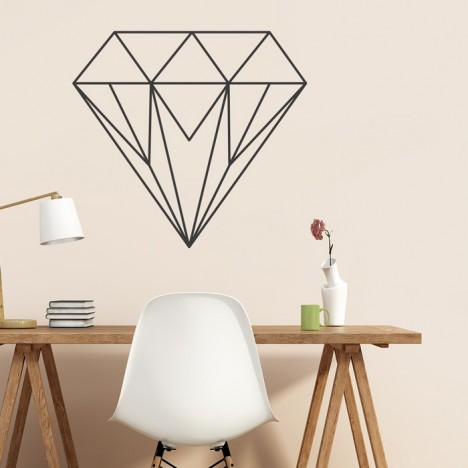 Wandtattoo Origami Diamant