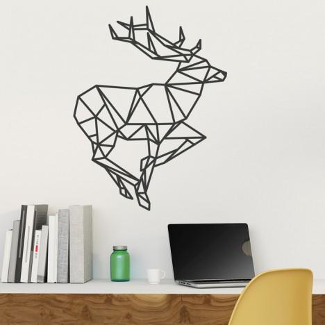Wandtattoo Origami Hirsch