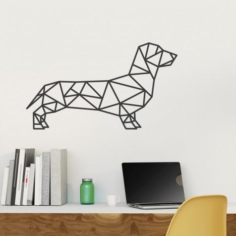 Wandtattoo Origami Dackel