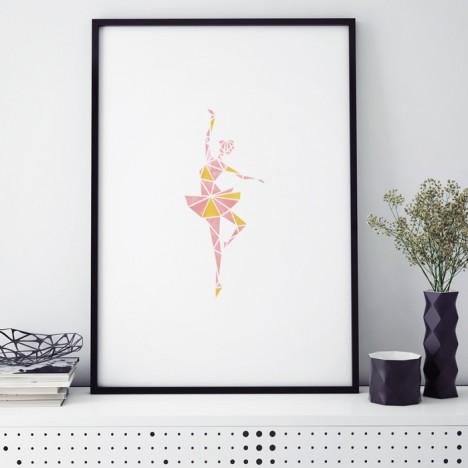 ballerina origami poster