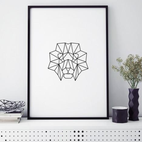 origami löwe poster