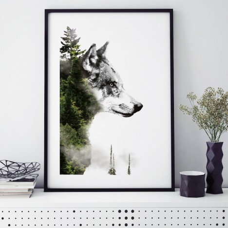 forest wolf poster wolf wald