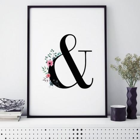Poster Florales &-Zeichen
