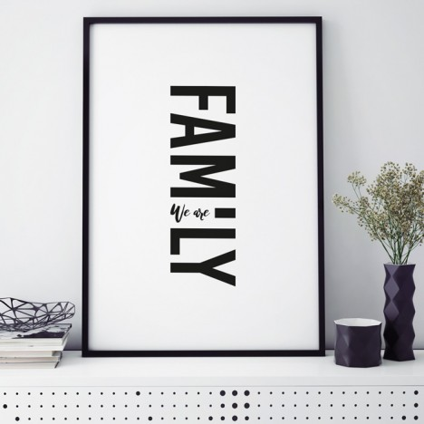 Poster We are Family, mit Rahmen