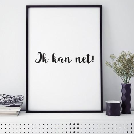 Poster Ik kan net!