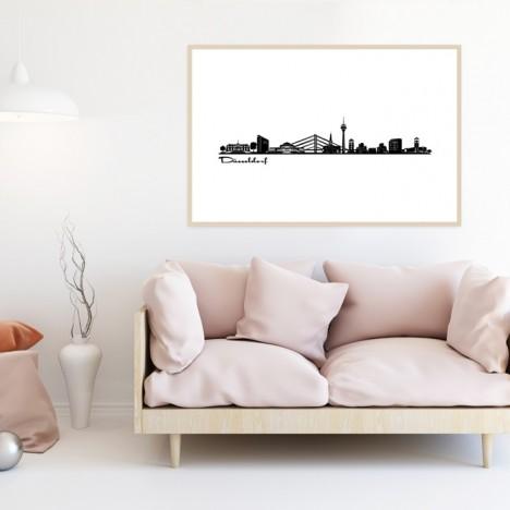 Poster Skyline Düsseldorf