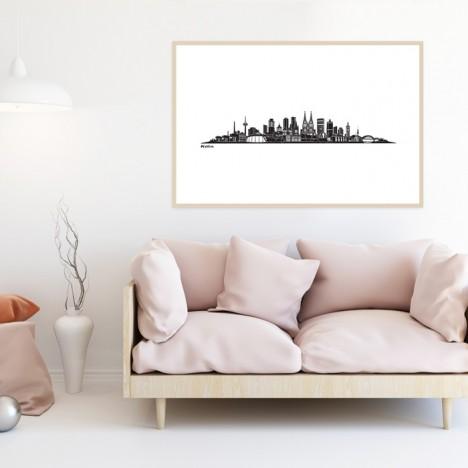Poster Skyline Köln