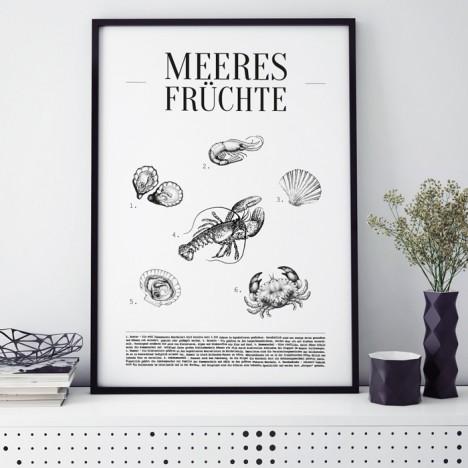 Poster Meeresfrüchte