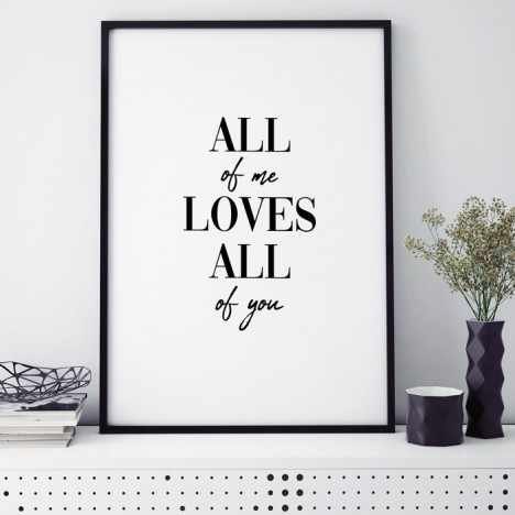 Poster All of me loves all of you