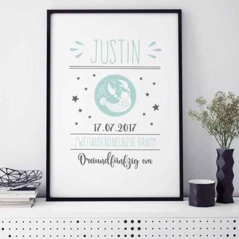 Poster Sternzeichen | individualisierbar