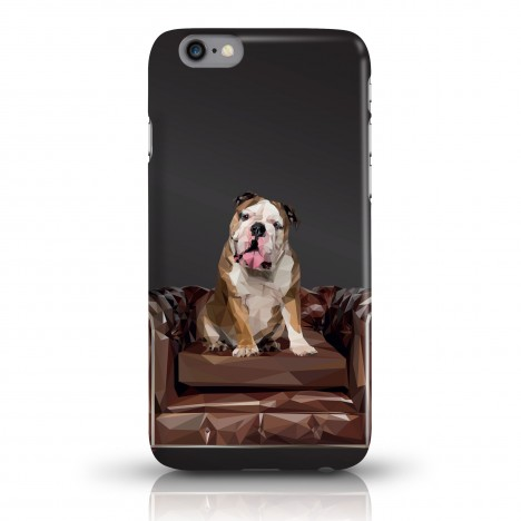 JUNIWORDS Handycase Bulldogge - Schwarz
