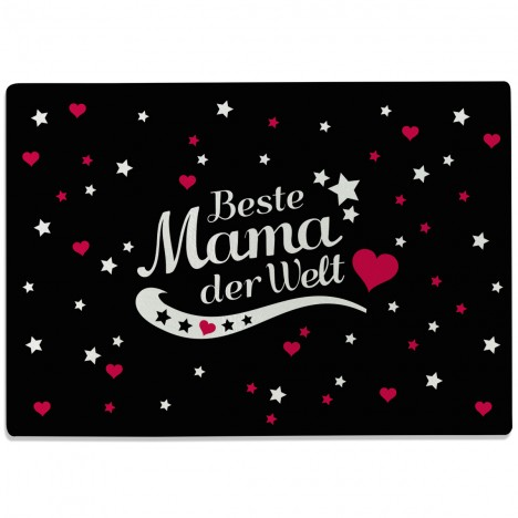 Glasschneidebrett Beste Mama der Welt Motiv 5