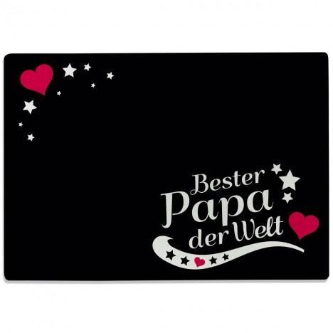 Glasschneidebrett Bester Papa der Welt Motiv 7