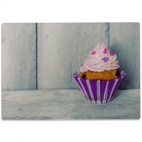 Glasschneidebrett Cupcake