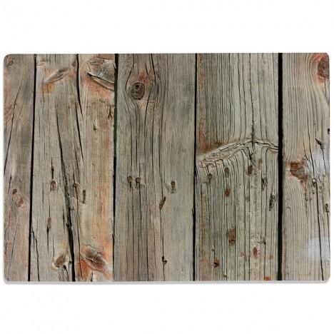 Glasschneidebrett Dunkles Holz