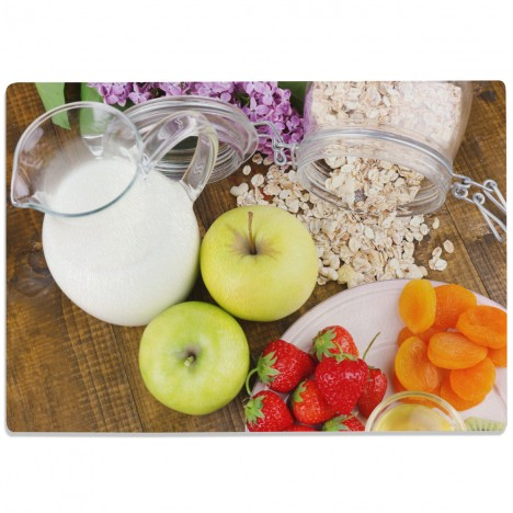 Glasschneidebrett Gesundes Frühstück