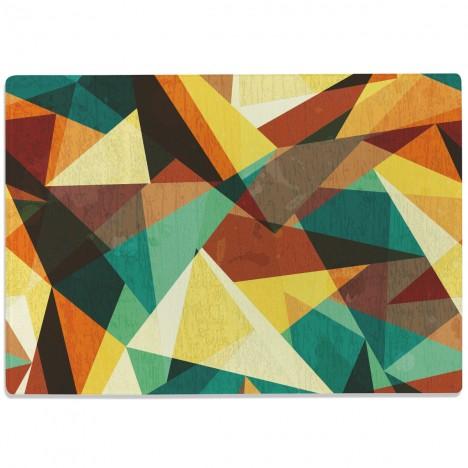 Glasschneidebrett Geographisches Muster