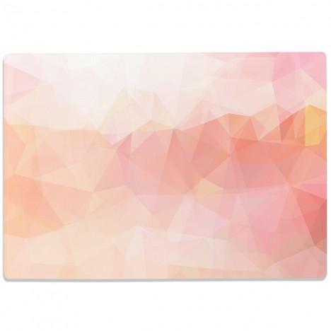 Glasschneidebrett Geographisches Muster Pastell