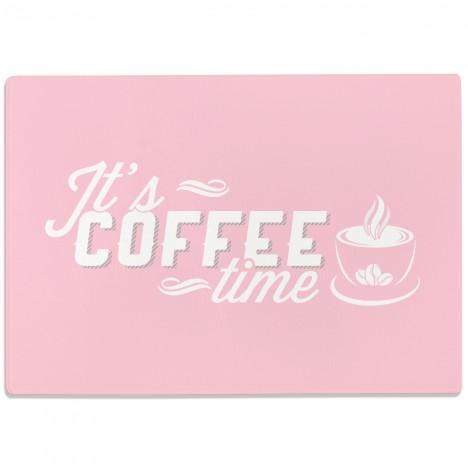 Glasschneidebrett It's Coffee Time