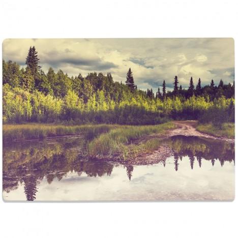 Glasschneidebrett Lake in Alaska